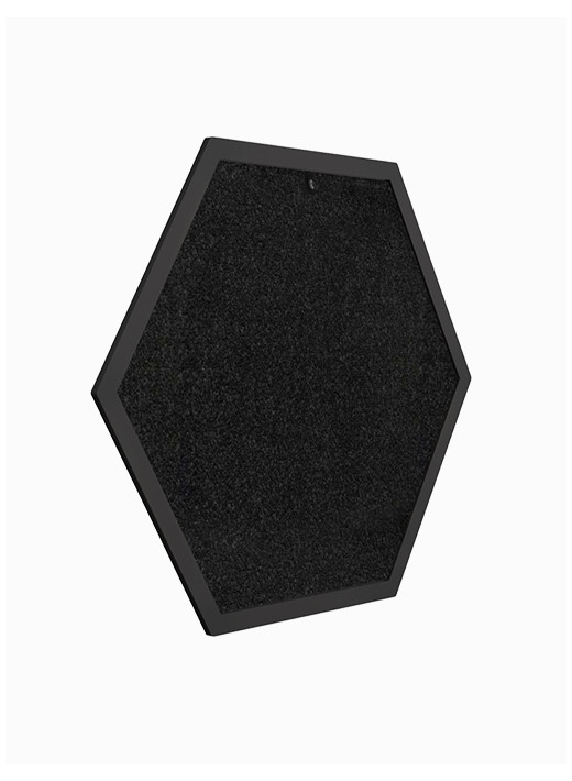 HEX DUŻY -  Drapak ścienny personalizowany w czarnej ramie