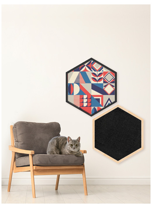 HEX BIG – Configured scratching post in a natural frame