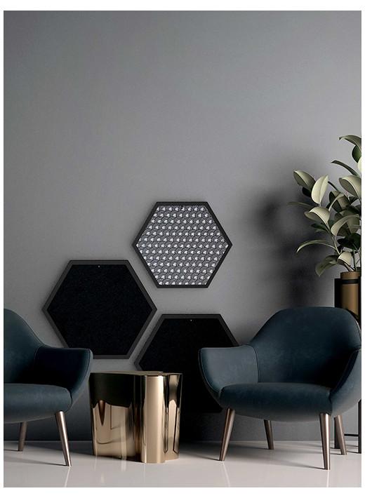 HEX PETIT - Grattoir mural personnalisé, dans un cadre noir