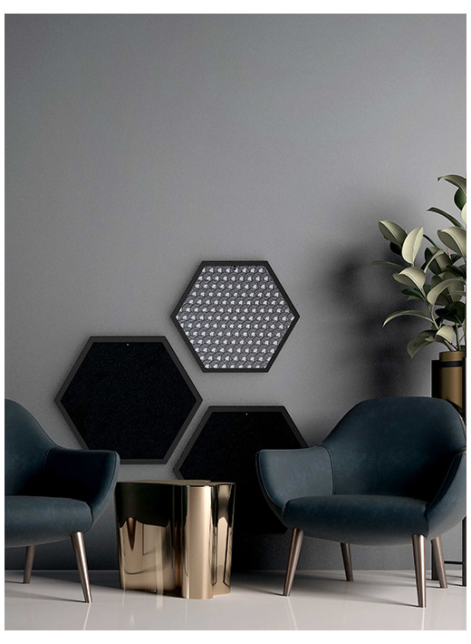 HEX SMALL – Configured scratching post in a black frame