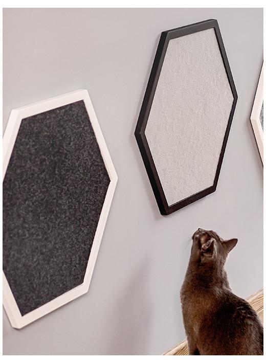 HEX PETIT- Grattoir mural personnalisé, dans un cadre blanc