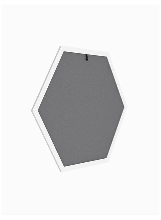 HEX MAŁY -  Drapak ścienny personalizowany w białej ramie